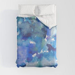 blue in different shadows Comforters