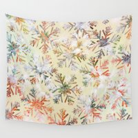 holiday Wall Tapestries featuring Holiday 3 by Klara Acel