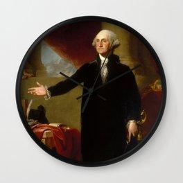 "Gilbert Stuart ""George Washington (Lansdowne portrait)"" Wall Clock"