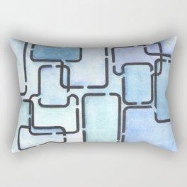 Office Blues Rectangular Pillow