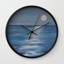 The Moon lighting up the Sea Wall Clock
