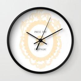 press for champagne button Wall Clock