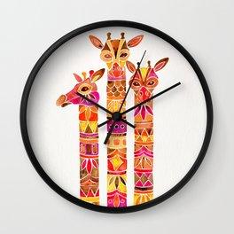Giraffes – Fiery Palette Wall Clock
