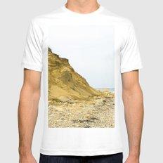 Montauk Beach Sand Dune White MEDIUM Mens Fitted Tee