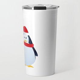 Christmas Santa Penguin Ho Ho Ho Merry Christmas Travel Mug