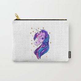 Sparkling Purple Unicorn Carry-All Pouch
