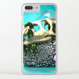 DINOSAUR SKULL ABSTRACT Clear iPhone Case