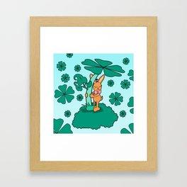Lucky Bunny Framed Art Print