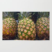 pineapples Area & Throw Rugs featuring Pineapples by UMe Images