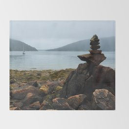 Acadia Cairn Throw Blanket