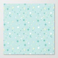 Twinkle Twinkle - Mint Canvas Print