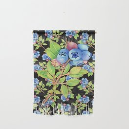 Wild Blueberry Sprigs Wall Hanging
