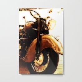 Motorcycle-Sepia-Poster Metal Print