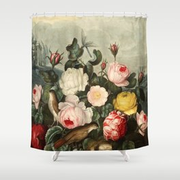 Pink  Red Floral : New Illustration Of The Sexual System Shower Curtain