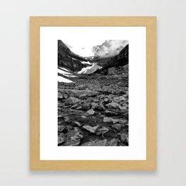 Nameless Rocks Beneath Space Framed Art Print