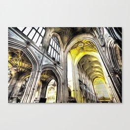 Bath Abbey Art Canvas Print