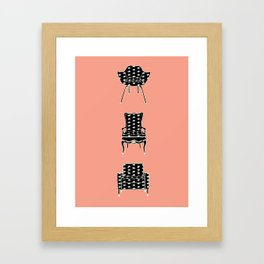 Cat Chairs Framed Art Print
