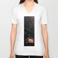 ladybug V-neck T-shirts featuring LADYBUG by auntikatar