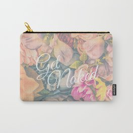 Get Naked Floral Carry-All Pouch