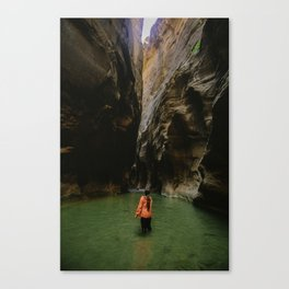 Wading through the canyons. Canvas Print