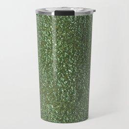 Silver green metal Travel Mug