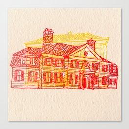Letterpress Houses 2 Canvas Print