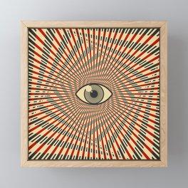 Red eye of providence Framed Mini Art Print