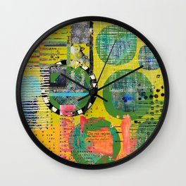 Colorful Circle Cut-out Abstract Art  Wall Clock
