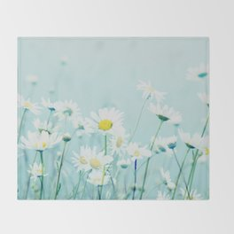 Dancing Daisies Throw Blanket