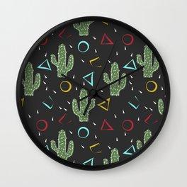 Cacti. Abstract modern pattern 3 Wall Clock