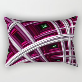In The Frame Red Rectangular Pillow