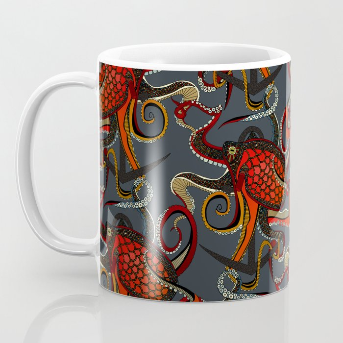 octopus ink gunmetal Coffee Mug