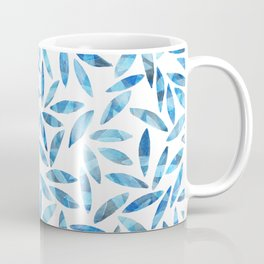 Indigo Summer Botanical Pattern Coffee Mug