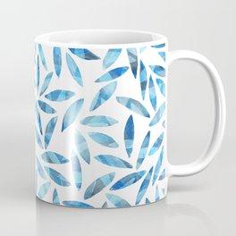 Indigo Summer Botanical Pattern Coffee Mug