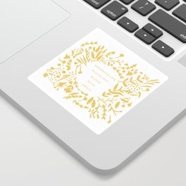 Yellow 'Bloom With Grace' Flowers Sticker