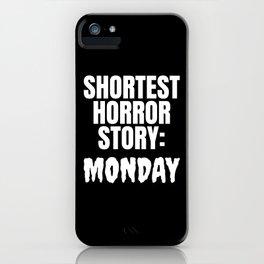 Shortest Horror Story Monday (Black) iPhone Case