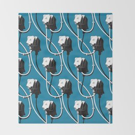 Wired. Blue Throw Blanket