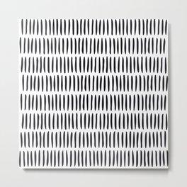 Classy Handpainted Stripes Pattern, Scandinavian Design Metal Print