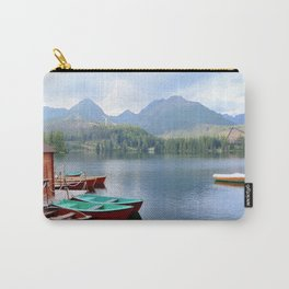 Boats on lake Carry-All Pouch