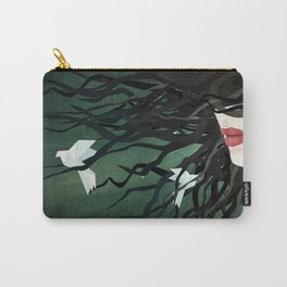 Birds in my hair Carry-All Pouch