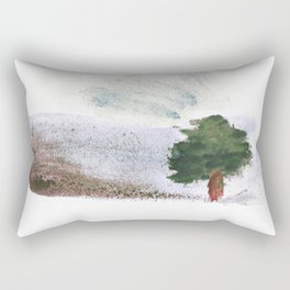 Desert tree Rectangular Pillow