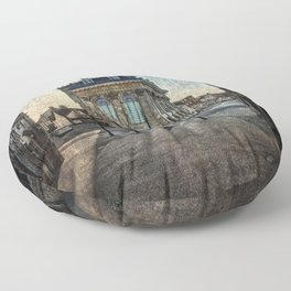 The Town Hall At Abingdon Floor Pillow