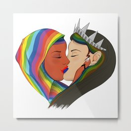 Liberty Kiss Metal Print