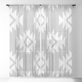 Third Eye Kilim in Grey Sheer Curtain