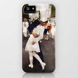 The Kiss,VJ Day, WWII iPhone Case