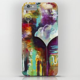 """Spirit Works"" Original Painting by Flora Bowley iPhone Case"
