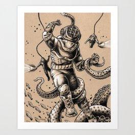 Danger Dive Art Print