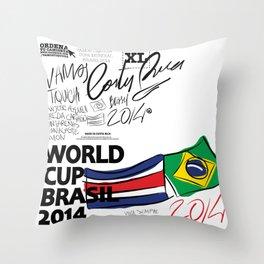 VAMOS TIQUICIA  Throw Pillow