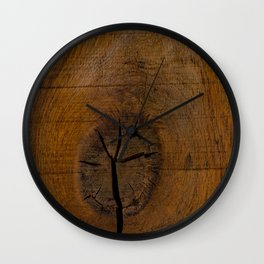The Wood Knot Wall Clock