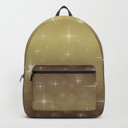 Gold Christmas With Stars Backpack